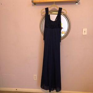 BCBG Generation Navy Blue Evening Gown Sz 0